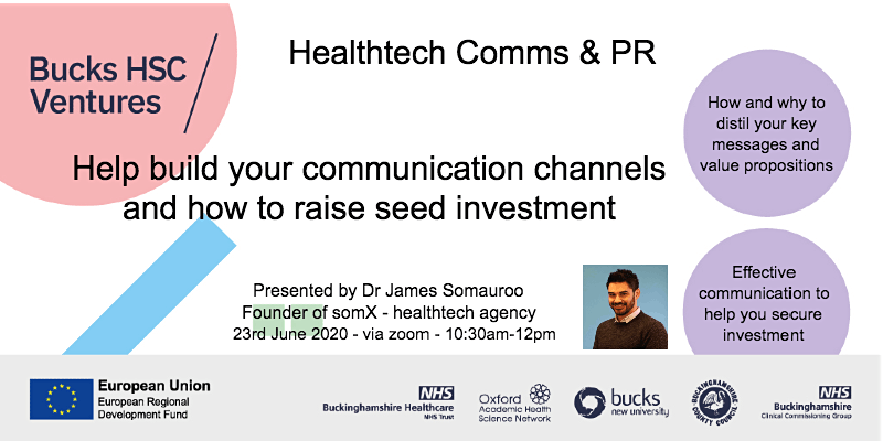 Healthtech Comms & PR 101 and raising seed investment